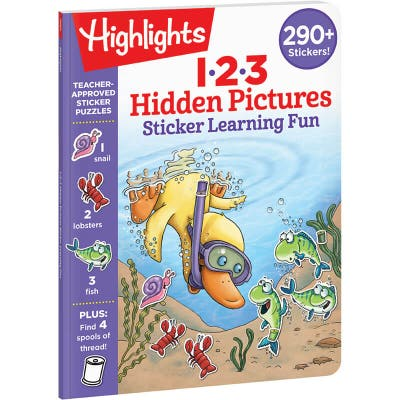 Hidden Pictures 123 Sticker Learning Fun