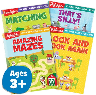 My First Puzzle Fun 2021 4-Book Set