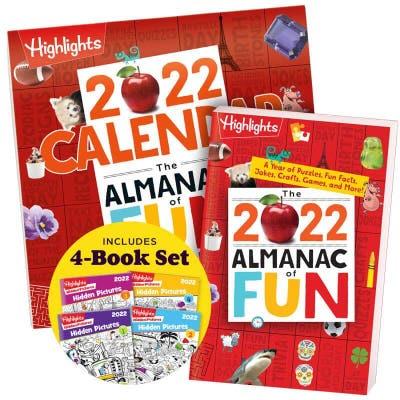 2022 Almanac of Fun + Calendar + Hidden Pictures 2022 4-Book Set