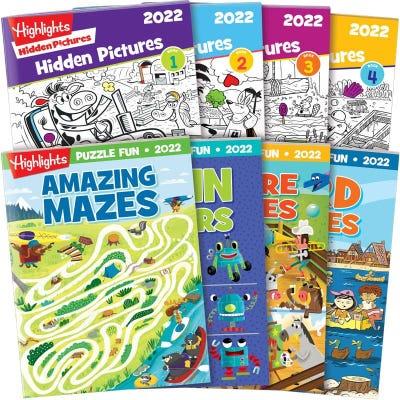 Hidden Pictures books + Puzzle Fun 2022 4-Book Sets