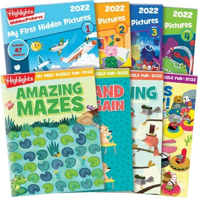 My First Hidden Pictures 2022 + My First Puzzle Fun 4-Book Sets