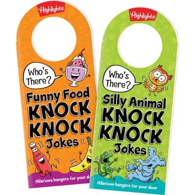 Knock Knock Door Hanger Joke Books Set of 2