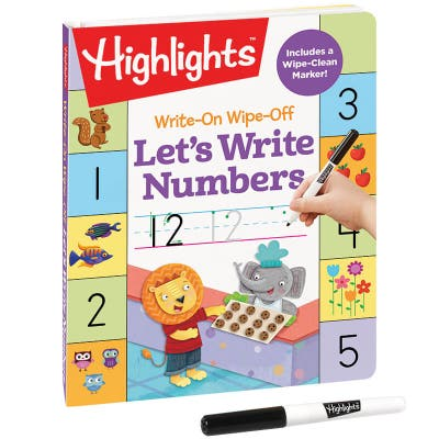 Write-On Wipe-Off Let's Write Numbers