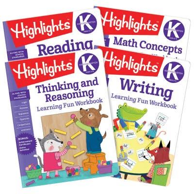 Kindergarten Learning Fun Workbooks Set of 4