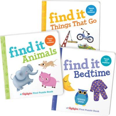 Find It Board Books Set of 3