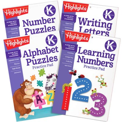 Learn on the Go Practice Pads Kindergarten Set of 4