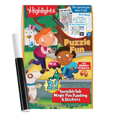 Highlights 3-in-1 Invisible Ink Book: Puzzle Fun