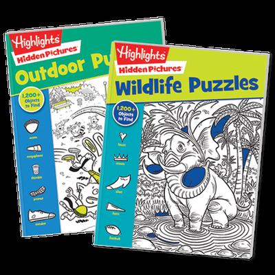 Highlights Hidden Pictures Favorites 2-Book Set Wildlife & Outdoor Puzzles