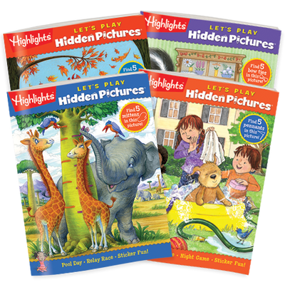 Hidden Pictures LET'S PLAY 4-Book Set
