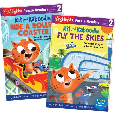 Kit and Kaboodle 2-Book Set: Skies and Roller Coaster