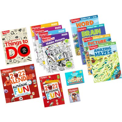Best of Highlights Activity Collection with 10 books, calendar, playing cards and sticky note pack