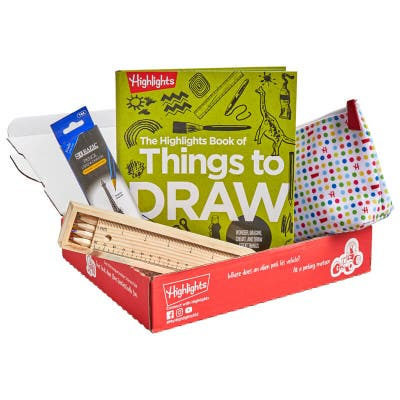 Book of Things to Draw Gift Set in a box