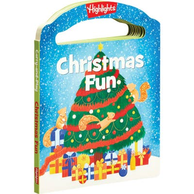 A carry-along holiday board book for kids