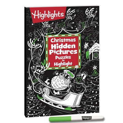 Christmas Hidden Pictures Puzzles to Highlight