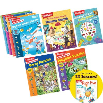 My First Hidden Pictures Gift Set with 8 books and magazine subscription