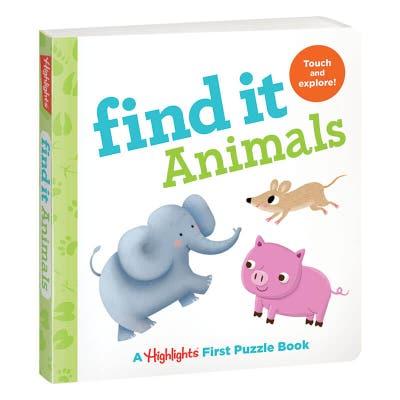 Find It Board Book: Animals
