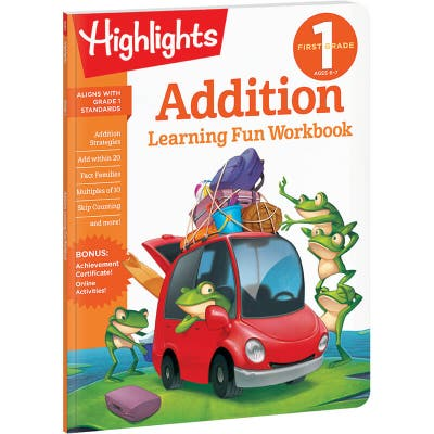 First Grade Learning Fun Workbook: Addition