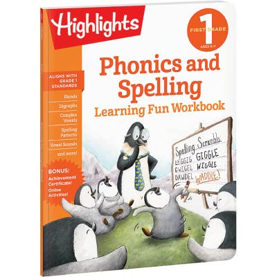First Grade Learning Fun Workbook: Phonics and Spelling
