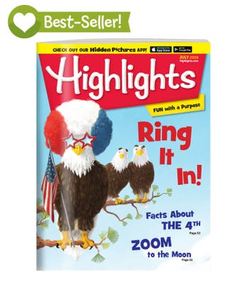 Highlights Magazine One Year (12 Issues) Subscription + 2 FREE Gifts