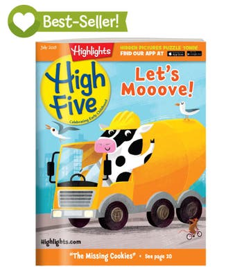 High Five Magazine One Year (12 Issues) Subscription + 2 FREE Gift