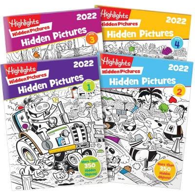 Highlights Hidden Pictures 2022 4-Book Set