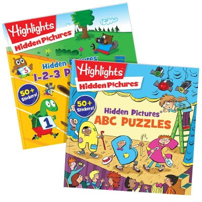 HIDDEN PICTURES ABC and 123 Set of 2