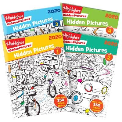 Hidden Pictures 2020 4-Book Set