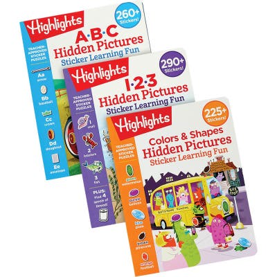 3 sticker pictures activity books for kids