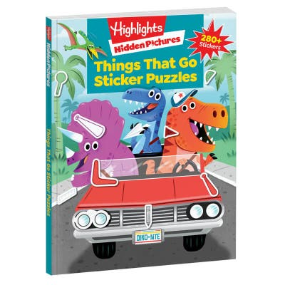 Hidden Pictures Stickers Things That Go Puzzles