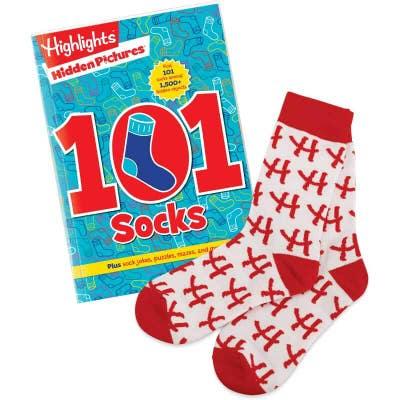 Hidden Pictures 101 Socks Book and Socks Set