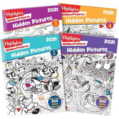Hidden Pictures 2021 4-Book Set