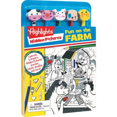 Hidden Pictures Fun on the Farm Puzzle Book With Pencils and Toppers