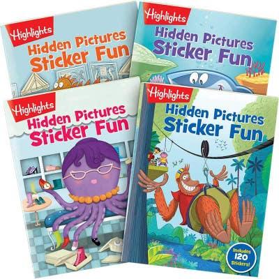 Hidden Pictures Sticker Fun 4-Book  Set
