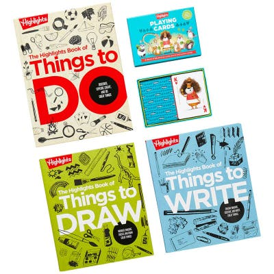 Book of Things to Do Collection with 3 books and 2 decks of playing cards