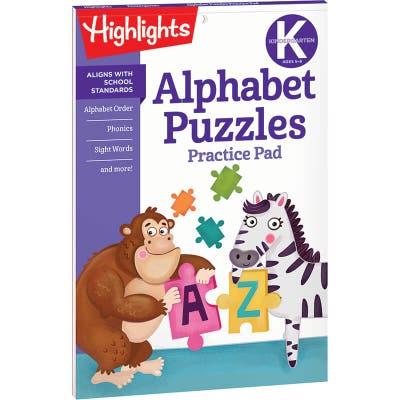 Alphabet Puzzles Practice Pad, Kindergarten