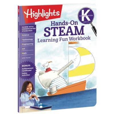 Kindergarten Hands-On STEAM Learning Fun Workbook