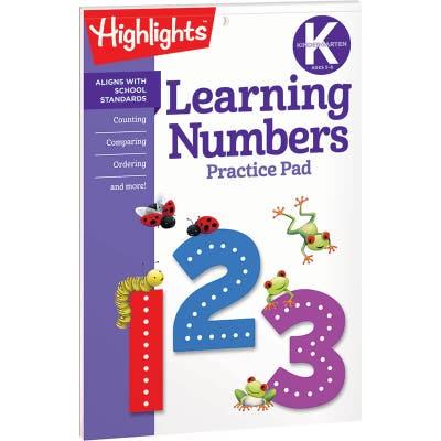 Learning Numbers Practice Pad, Kindergarten