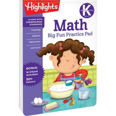 Kindergarten Big Fun Practice Pad: Math