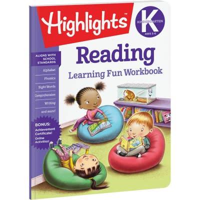 Kindergarten Learning Fun Workbook: Reading