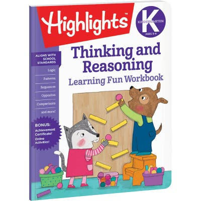 Kindergarten Learning Fun Workbook: Thinking and Reasoning