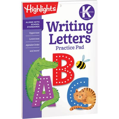Writing Letters Practice Pad, Kindergarten
