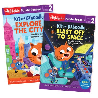 Highlights Puzzle Readers: Kit and Kaboodle 2-book set