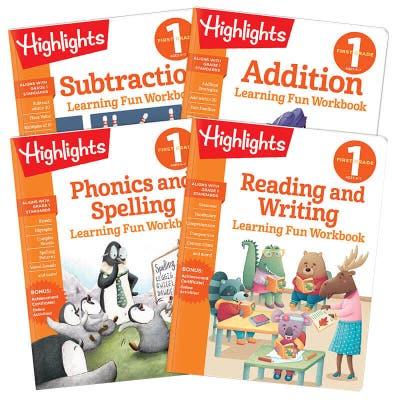 Learning Fun Workbooks First Grade Set of 4