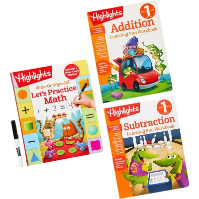 Let's Practice Math Learning Pack with 3 books