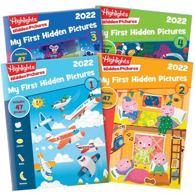 My First Hidden Pictures 2022 4-Book Set