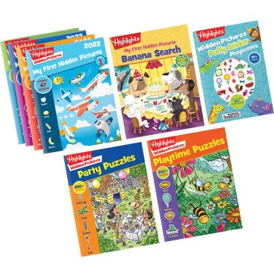 My First Hidden Pictures Gift Set with 8 books