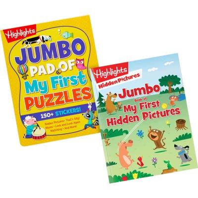 Children's book set with 2 jumbo books