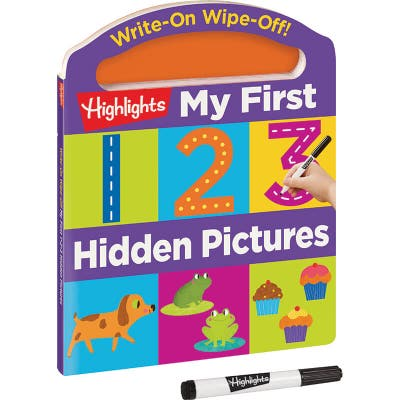 Write-On Wipe-Off My First 123 Hidden Pictures Book