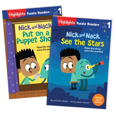 Highlights Puzzle Readers: Nick and Nack 2-book set