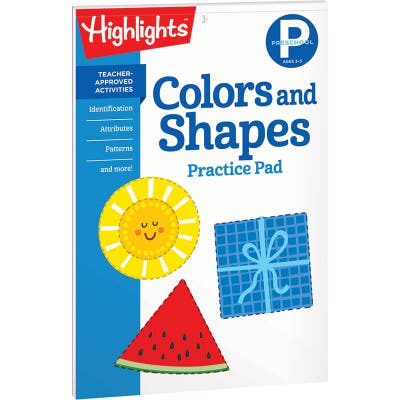 Colors and Shapes Practice Pad, Preschool